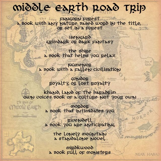 Middle Earth Road Trip Readathon Prompts